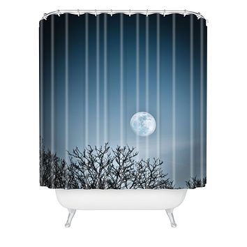 Bird Wanna Whistle Moon Shower Curtain