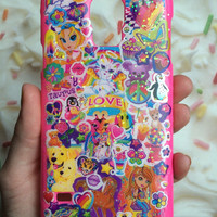 90's Retro Lisa Frank pink glitter Galaxy S5 case