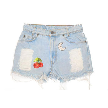 Mars Queen Denim Shorts