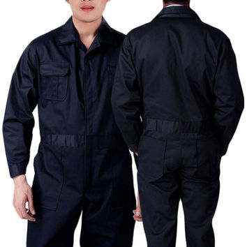 Black BOILER SUIT OVERALL COVERALL Mechanic college work MENS New Sale