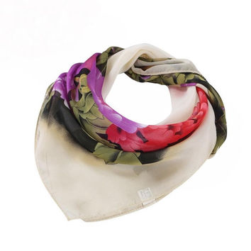 New Fashion Women Printing Square Scarf Head Wrap Kerchief Neck Shawl bufandas mujer 4 Colors GS