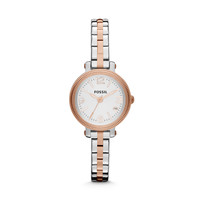 ES3217 - HEATHER THREE HAND STAINLESS STEEL WATCH – TWO-TONE