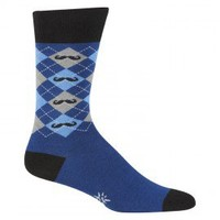 Argyle Mustache Design Socks - Socks - Apparel