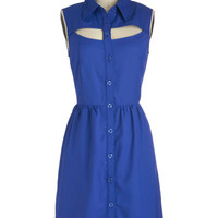 A Peek of Blue Dress | Mod Retro Vintage Dresses | ModCloth.com
