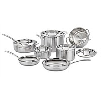 12-Piece Stainless Steel Professional Oven Safe Cookware Set