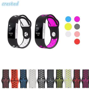 DCCKB6F CRESTED sport watch band Strap for fitbit charge 2 band Silicone strap Nike