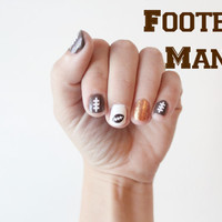 Football themed -Vinyl Nail stickers/decals pack of 50