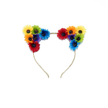 Rainbow Jewel Cat Ears Headband