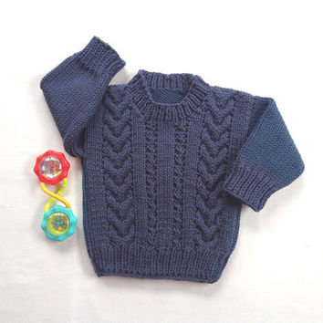 Baby sweater - 6 to 12 months - Knit baby jumper - Baby clothing - Infant sweater - Baby knits