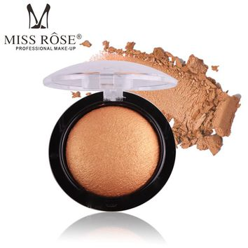 MISS ROSE Smokey Eyes Glitter Baked Eyeshadow Single Palette Make Up Waterproof Shimmer Matte Powder Eye Shadow 24 Colors