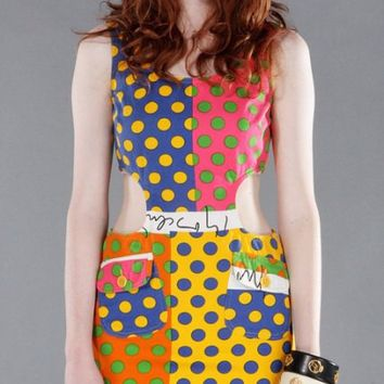 Vintage MOSCHINO Cutout Polka DOT Print DRESS! | Claire Incorruptible :: Styling & Exclusive Drapery