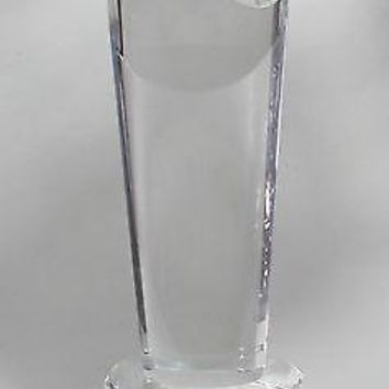 """Oval optical GLASS 10"""" high, Gift crystal / award for etching"""
