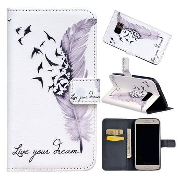 Women Magnets Fashion Flip Leather Wallet Case Card Holder Purple Feather Pattern Skin  for IPhone 8/ 8Plus/iPhone X/5 5S /6 6S/