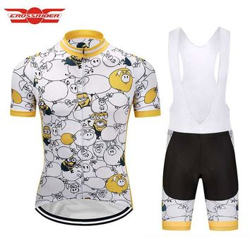 Crossrider 2018 Men s Cartoon Cycling Jersey MTB Clothing Short fb99b0666