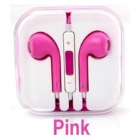 Pink Hgih Quality Headphones With Microphone Mic And Voulme Control Remote Earphones Headsets For iPhone4/4S 5, Ipad Mini And All Ipads With Mini Capaci:Amazon:Cell Phones & Accessories