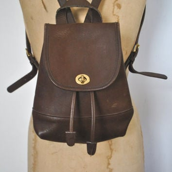 COACH Backpack Bookbag Purse / Brown Leather bag