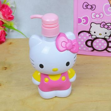 Hello Kitty Small Plastic Containers KT Storage Container Empty Cosmetic Bath Lotion Bottle Hand Sanitizer Bottle