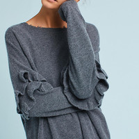 Current/Elliot Cashmere Ruffle Sweater