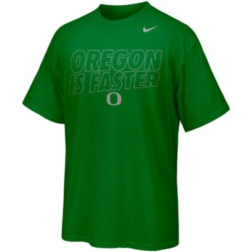 Nike Oregon Ducks Chrome Package Fast Is Faster T-Shirt - Green