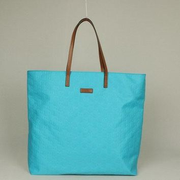 Gucci Tote bags 295252 HandBags Cow Leather Blue Ladies