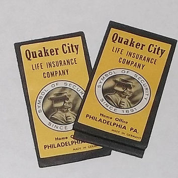 Vintage Quaker City Sewing Needle Packs