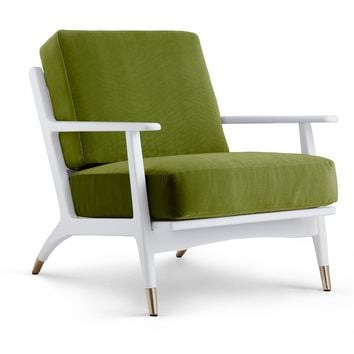 Bungalow 5 Hart Lounge Chair - Green | New Arrivals | Furniture | Candelabra, Inc.