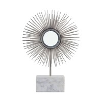 Protostar Tabletop Sculpture Silver,White Marble