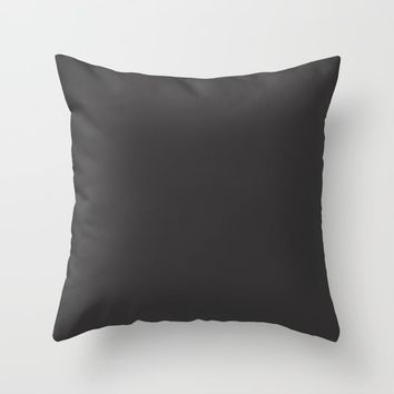 Midnight Black Throw Pillow by spaceandlines
