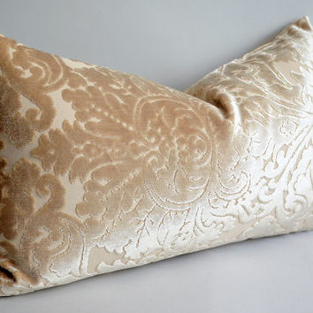 NEW - sukan designer pillows -12x20 velvet pillow cover Ivory cream - cream lumbar pillows - velvet throw pillow - sukanart