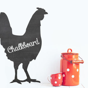 Rooster Wall Chalkboard Decal