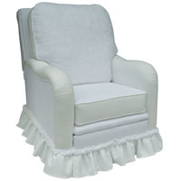 Angel Song 202621181Down Nantucket White Adult Kensington Recliner w/ Plush Down Cushion