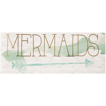 Mermaid Wooden Box Sign Wall Art