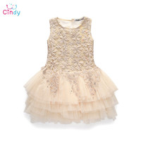 2016 New  Girl Dress Summer 3-8 Years Baby Girls Dress Vestidos Wedding Party Baby Clothes Free Shipping