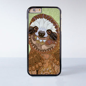 Funny Baby Sloth  Plastic Case Cover for Apple iPhone 4 4s 5 5s 5c 6 6s Plus