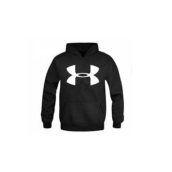 Under Armour Men 's casual printing sweater large size Slim jacket hooded head movement men' s clothing