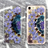 Floral pressed flower iphone 6s case iphone 6 clear, iphone se case floral, iphone 7 plus case flowers, iphone 5s case, iphone 8 iphone X