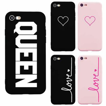 Brand NEW Heart Candy Pink Fashion Soft TPU Silicon Phone Case for iPhone 6s Phone Cover for iPhone 7 8 Plus 6 Plus 5S SE X PINK