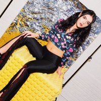 Center Stage Black Crystal Pants - Red X American Deadstock Vintage Clothing