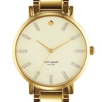 Women's kate spade new york 'gramercy' round bracelet watch, 38mm - Gold