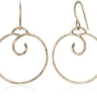 Renee Garvey Small 10k Earwire Rose Gold Top Coil Hoop Earrings