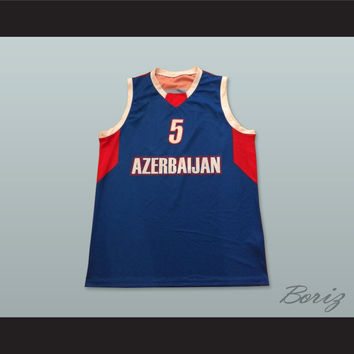 Azerbaijan 5 National Team Basketball Jersey