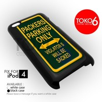 AJ 1093 Packers Parking Only - ipod 4 Case