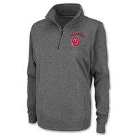 Women's Oklahoma Sooners College Quarter Zip Fleece Pullover Sweatshirt