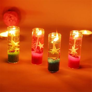 Ocean Jelly Candle Wedding Party Decoration Glass Cup Shell Birthday Candle