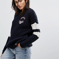 Superdry Varsity Slouch Knit at asos.com