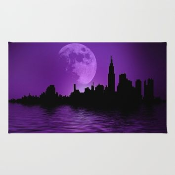 Purple City Rug by InDepth Designs