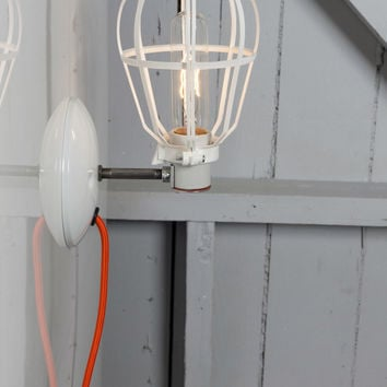 Industrial Wall Mount Sconce - Plug In - Modern Cage Light