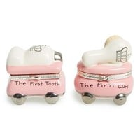 Infant Girl's Mud Pie 'Princess' First Tooth & Curl Treasure Box Set - Pink