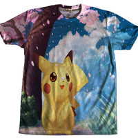 Cute Pika Tshirt HD Clothing Unisex All Over Printed Front & Back