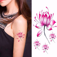 Simulation Waterproof Lotus Temporary Tattoo Stickers ~